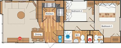 caravan floor plan layouts four star caravan leven beach holiday park fife scotland