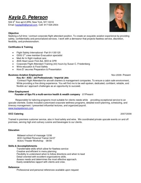 awesome flight attendant description resume resume format web