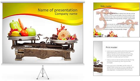 Healthy Against Fast Food Powerpoint Template Fast Food Powerpoint Template