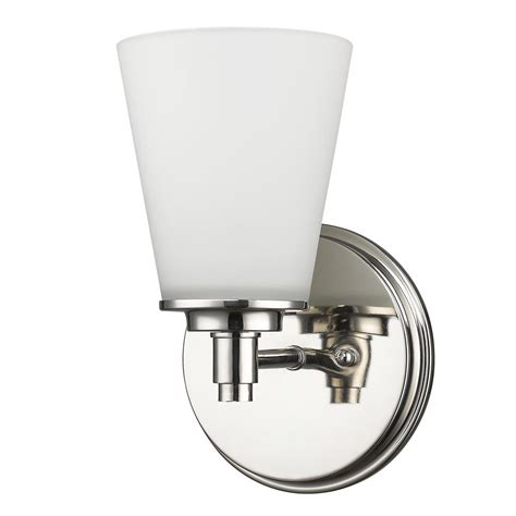 Polished Nickel Sconces by Acclaim Lighting Conti 1 Light Polished Nickel Sconce With