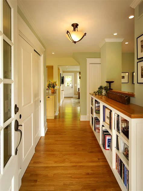 Hallway shelving hall traditional with ceiling lights