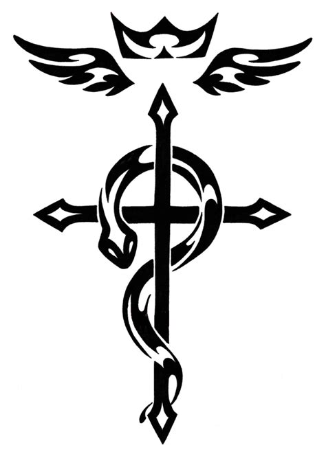 steel cross tattoos flamel s cross tattoos metal anime tattoos