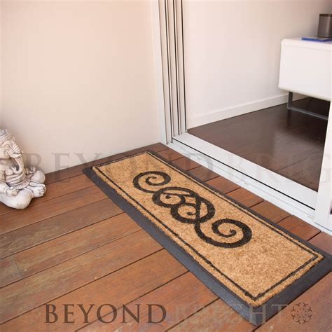 heavy duty outdoor rugs doormat 40x120cm ornate coir heavy duty door mat rubber outdoor rugs ebay