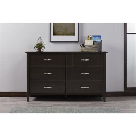 altra furniture quinn 6 drawer espresso dresser 5745303com