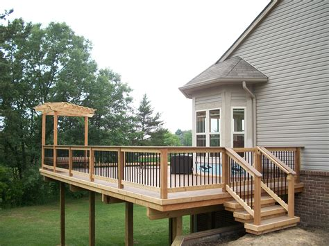 decks with pergolas southeastern michigan custom pergolas photo gallery by gm construction in howell mi