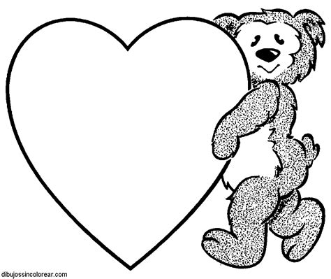 Imagenes De Corazones Sin Color | dibujos de corazones para colorear