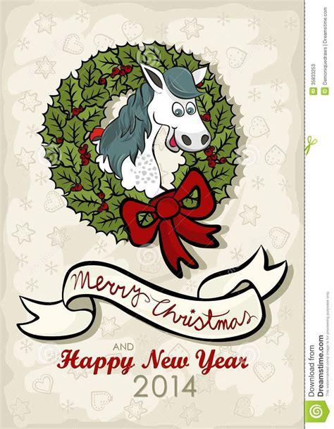 new year zodiac wreath happy wishes card stock photos