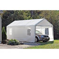 Cheap Portable Garages And Shelters by Shelterlogic Portable Garage Canopy Carport 10 X 20