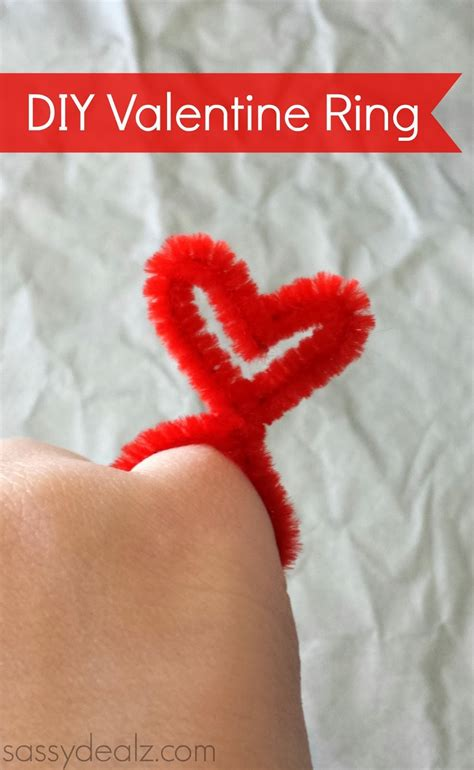 valentines morning ideas diy rings made from pipe cleaners crafty