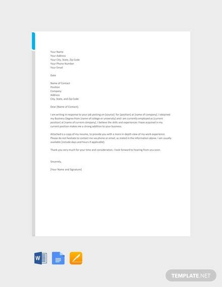 cover letter templates google docs templatenet