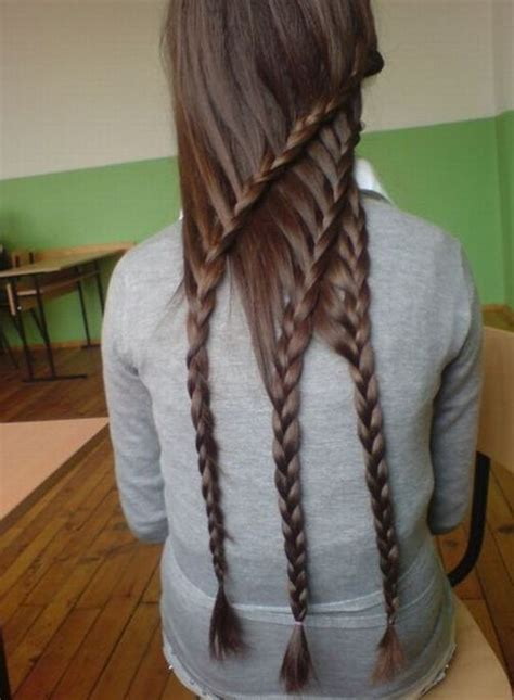cool braids for hair cool triple layered braids for girls hairstyles weekly