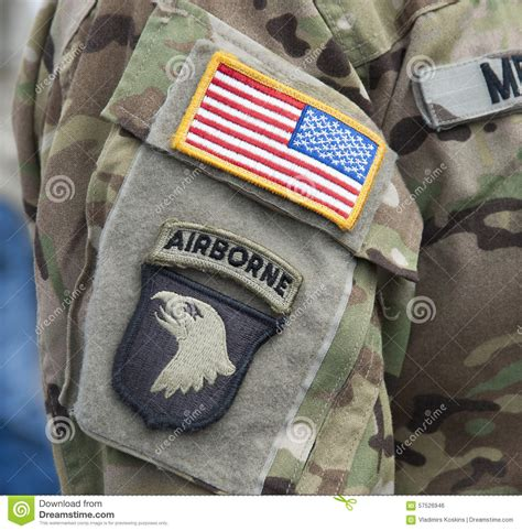 Patch Impor Us Paratrooper With Velcro velcro patch 101st airborne division stock photo image 57526946