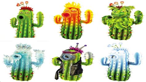 PvZ Garden Warfare   All Cactus Characters Gameplay   YouTube