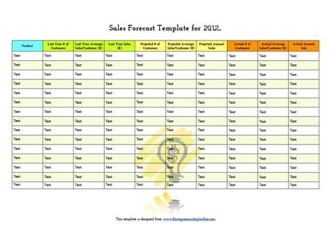 39 Sales Forecast Templates Spreadsheets Template Archive Projected Sales Template