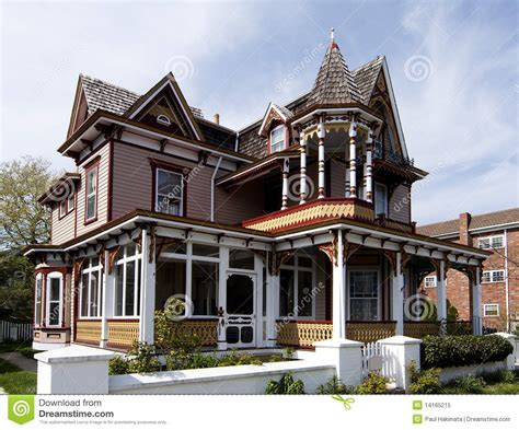 victorian style house colorful victorian style house royalty free stock photo image 14165215