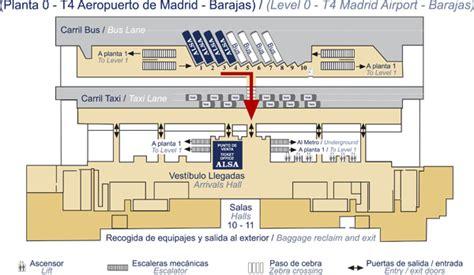 aena zaragoza salidas alsa en las llegadas de la t4 aeropuerto de madrid