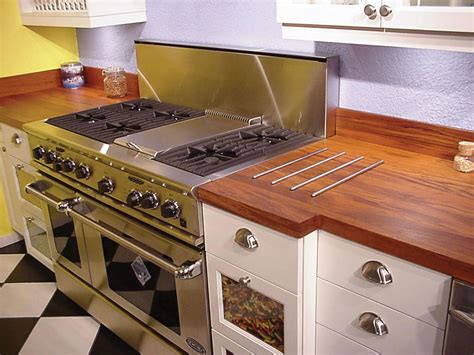 Wood Kitchen Countertops Wooden Kitchen Countertops For A Trendy Look Ideas 4 Homes