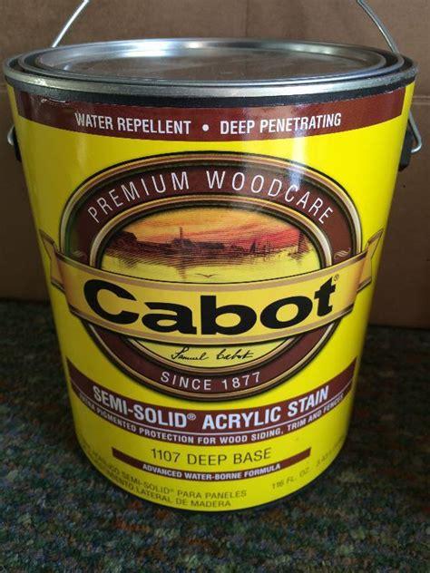 cabot stain stain paint  sealer  bid