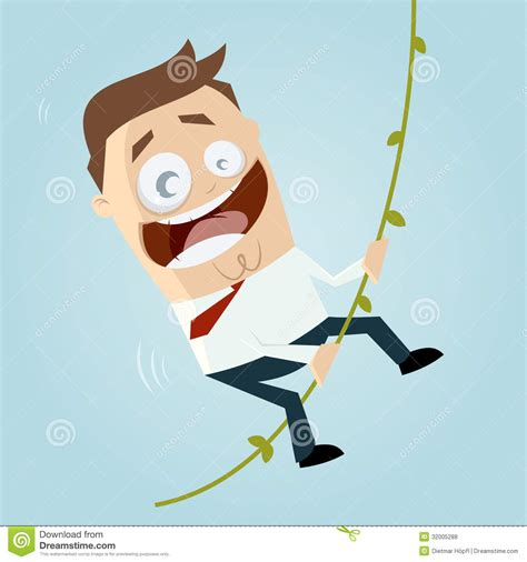 swinging videos free cartoon man swinging on liana royalty free stock photos