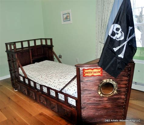 pirate ship twin bed custom made twin size pirate ship bed by d s artistic woodworking llc custommade com