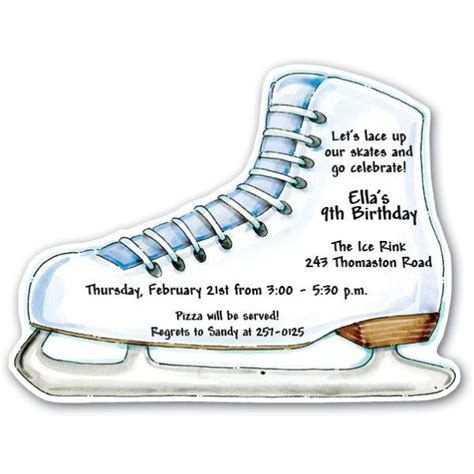 free printable birthday invitations ice skating ice skates party invitations paperstyle
