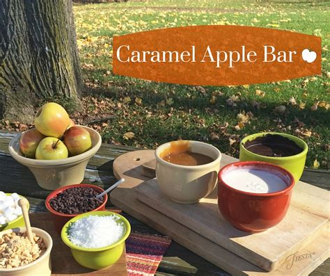 caramel apple bar toppings caramel apple bar fiesta blog
