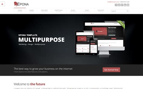wrapbootstrap free themes epona responsive website template business corporate