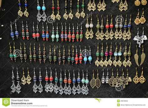 handmade earrings for sale stock photography image 26878632