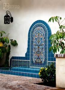 Moroccan Sconce Lighting Blue Malibu Tile Fountain Mediterranean Landscape
