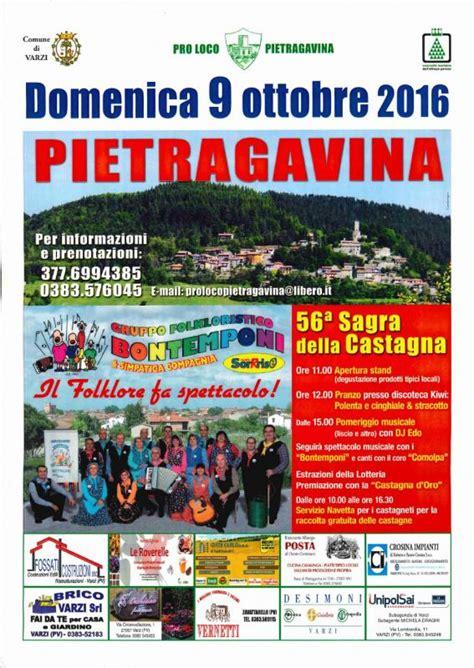 sagre pavia sagra della castagna varzi pv 2016 lombardia su eventi