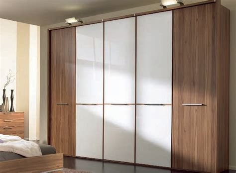 nolte wardrobe in walnut white glass