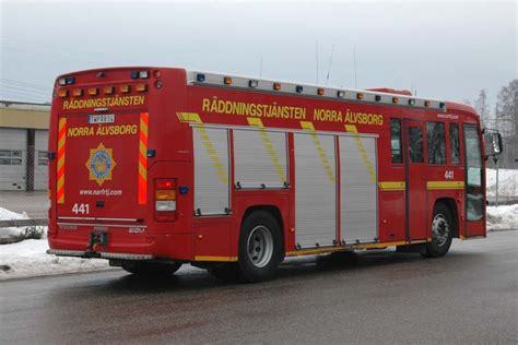 fire engines  volvo bm rescue pumper faergelanda sweden