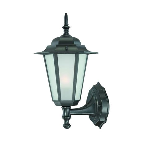 Outdoor Wall Mounted Light Fixtures Bel Air Lighting Bulkhead 1 Light Outdoor Black Wall Or Ceiling Mounted Fixture With Frosted