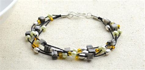 how to end a beaded bracelet how to finish a multi strand bracelet with mixed and