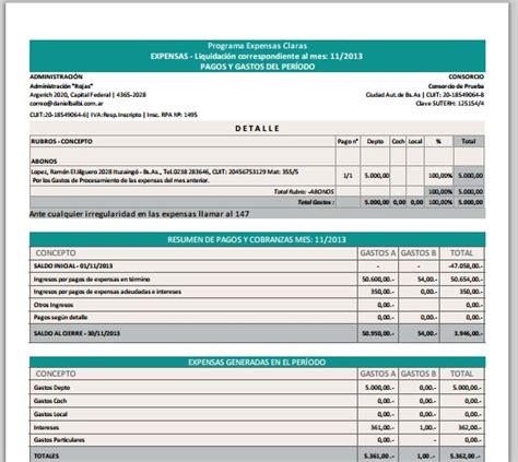 modelo de liquidacin de expensas losconsorcistascomar modelo de liquidacin de expensas losconsorcistascomar 205