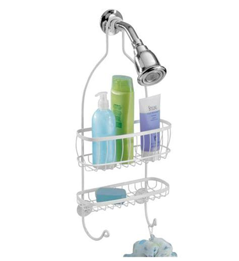 Hanging Bathroom Shower Caddy York Hanging Shower Caddy White In Shower Caddies