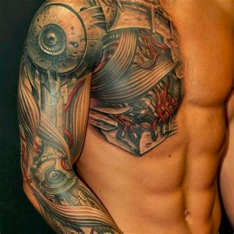 robotic arm tattoo robot tattoos awesome works of mechanical urbanist