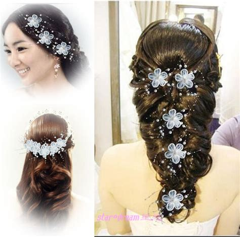 Hair Clip Anak Perempuan Monic Purple 10 handmade hair accessory the wedding hair accessories lace white flowers hair maker pearl