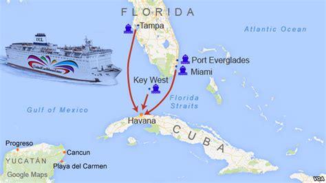 cuba and florida map cuba deal buoys hopes for yucat 225 n ferry