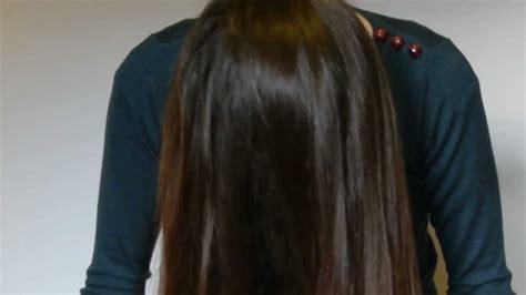 combing hair forward slow long hair brushing asmr youtube