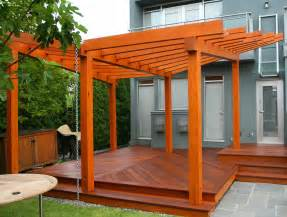 Wood Pergolas by How To Stain A Wood Pergola Best Deck Stain Reviews Ratings