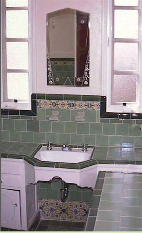 1930s bathroom original 1930s bathroom sink love the tiling of