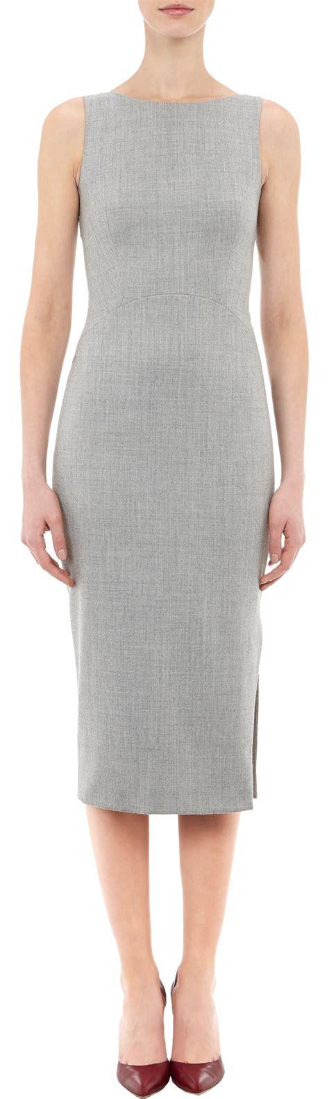 Gray Sleeveless Two Dress altuzarra sleeveless shadow sheath dress in gray grey lyst