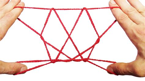 String Shapes - cat s cradle string trick how to make a butterfly string