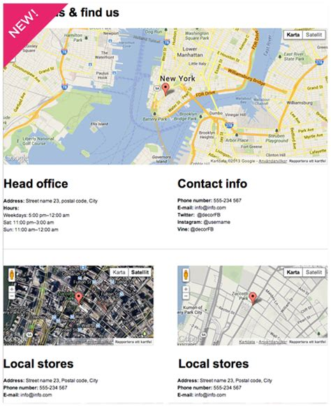 Usa Address Finder Adding Maps To Your Page By Decor Io App Creator Decor