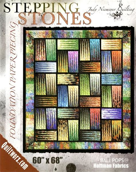 quilt pattern stepping stones stepping stones quilt pattern by judy niemeyer by judy