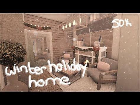 roblox bloxburg winter holiday home house build