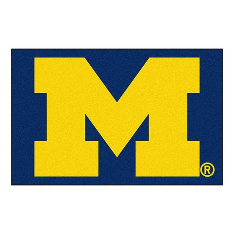of michigan rug fanmats of michigan 19 in x 30 in accent rug 3409 the home depot