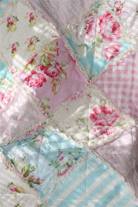 baby girl rag quilt shabby chic french country