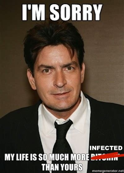 Charlie Sheen Meme - brutal charlie sheen hiv memes flood the internet